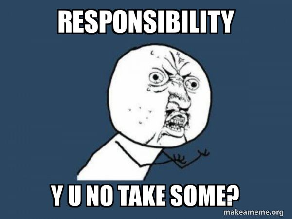 Meme about sharing responsibility